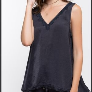 🆕️ Charcoal Gray Lace Cami